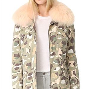 Army by Yves Salomon camouflage coat